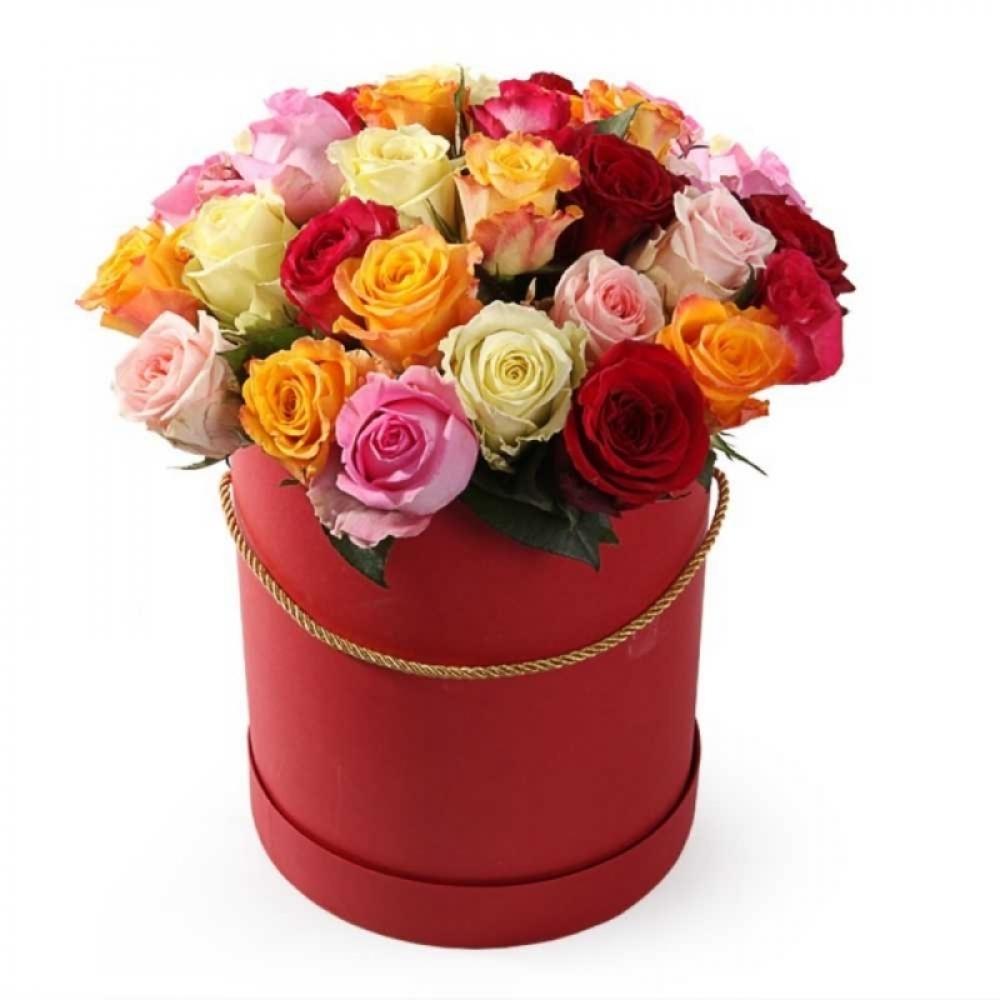 Коробочка с розами МИКС