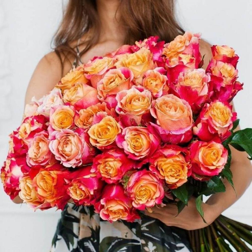 Оранжевая роза 3D