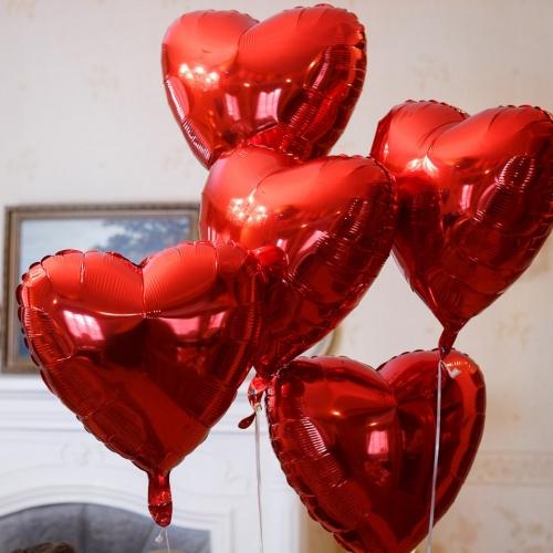 Шарик сердечко фольга