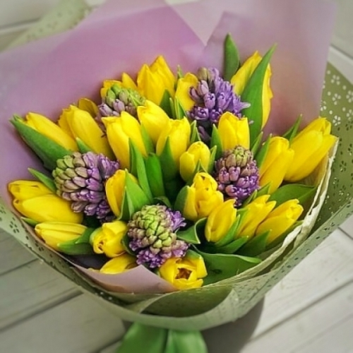 633 Тюльпаны с гиацинтами